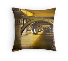 Shapes under Sandridge Railway Bridge, Melbourne Throw Pillow