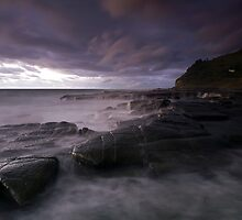 Turbulence - Garie Beach, NSW by Malcolm Katon