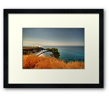 A bow to the sea  Framed Print