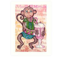 Monkey's Milkshake - mmmm! Art Print