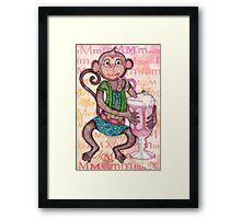 Monkey's Milkshake - mmmm! Framed Print