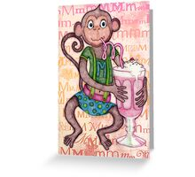 Monkey's Milkshake - mmmm! Greeting Card