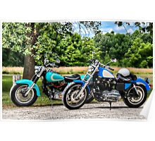 Two Old Harleys Poster