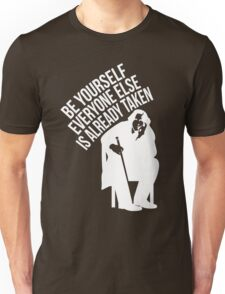 Oscar Wilde - Quote Series in White. Unisex T-Shirt