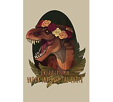 Dinosaur Eats Man Photographic Print
