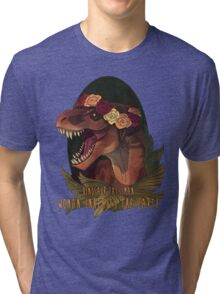 Dinosaur Eats Man Tri-blend T-Shirt