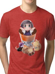 Gugure Kokkuri-san Tri-blend T-Shirt