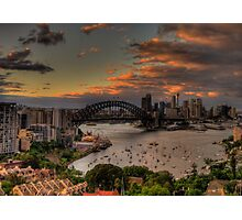 Good Morning World (Panoramic)- Moods of A City - The HDR Experience Photographic Print