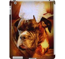 Boxer Dog With Blue Bow iPad Case/Skin