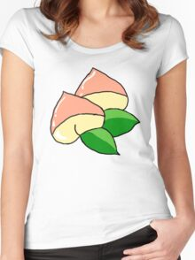 peachy print single Women's Fitted Scoop T-Shirt