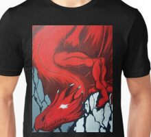 Red Dragon Over Mountains Unisex T-Shirt