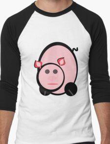 peta the pig Men's Baseball ¾ T-Shirt