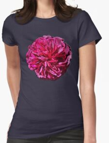 Purple Tissue Flower Womens Fitted T-Shirt