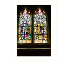 Hubberholme Church Window #1 Art Print