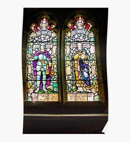 Hubberholme Church Window #1 Poster