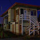 Wodonga at Night (Signal box) 2 by John Vandeven