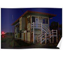 Wodonga at Night (Signal box) 2 Poster