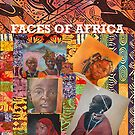 FACES OF AFRICA CARD AND POSTCARD by Rosetta Jallow