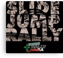 Slide Jump Rally - Black Canvas Print
