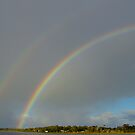 Rainbows At Oyster Harbour by Robert Abraham
