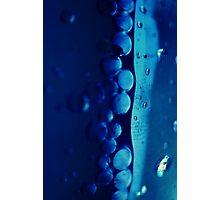 Fizzy Blue bubbles Photographic Print