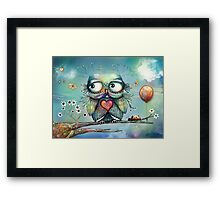 little wood owl Framed Print