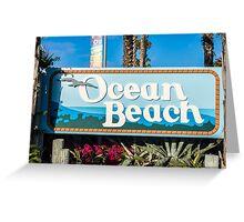 Ocean Beach Sign Greeting Card