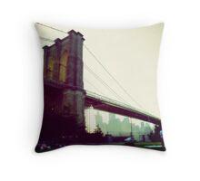 Brooklyn Bridge from Brooklyn Bridge Park Throw Pillow