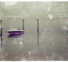 Speed Boat Docked by the Pier. Martha's Vineyard, Postcard by yiuphotography