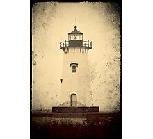 Edgartown Harbor Lighthouse. Martha's Vineyard, Vintage Postcard Photographic Print