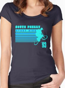 South Philly Stunt Bike Women's Fitted Scoop T-Shirt