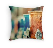 Vintage Candle Holder Throw Pillow