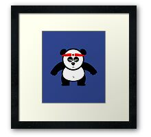 PANDA ACTION Framed Print