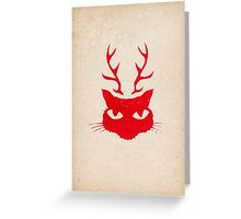 deer cat Greeting Card