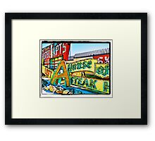 Las Vegas Glory Days Framed Print