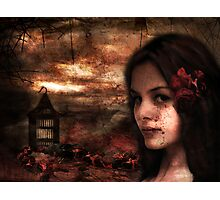 Blood Rose Tears Photographic Print