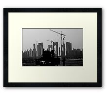 Into The Grey Framed Print
