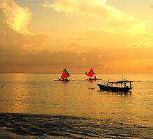 Quite sunrise on Gili island by fixcreator