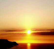 Sunset Over The Bristol Channel by Andrew  Bailey