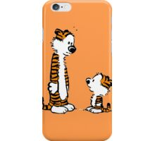 Hobbes and little hobbes iPhone Case/Skin