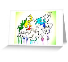 Ink and color Greeting Card