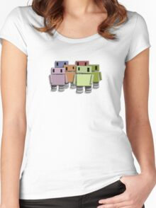 Robot Colour Women's Fitted Scoop T-Shirt