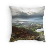 Clouds Loom Loughrigg Fell  Throw Pillow