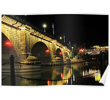 London Bridge Evening Light Poster