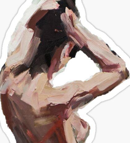 Woman painting - transparent Sticker