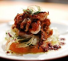 Octopus with Fennel Carpachio and Grapefruit Segment by martinedward