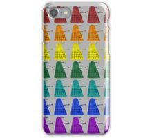 Rainbow march of Daleks iPhone Case/Skin