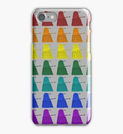 Rainbow march of Daleks iPhone Case/Skin