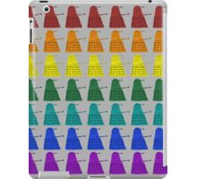 Rainbow march of Daleks iPad Case/Skin