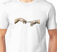 Creation of Adam // Pixels Unisex T-Shirt